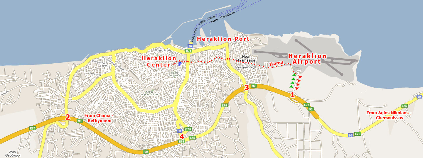 Driving Instructions To Heraklion Airport And Heraklion Port