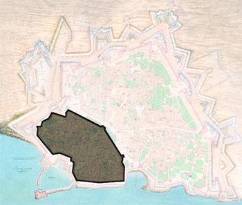 χάρτης με το βυζαντινό ηράκλειο