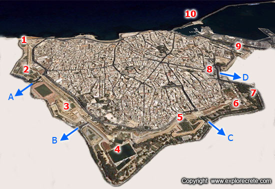 heraklion walls map