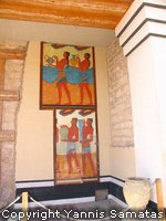 Knossos Minoan fresco of the Procession