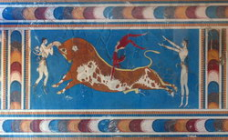 Bull Leaping Fresco in Knossos
