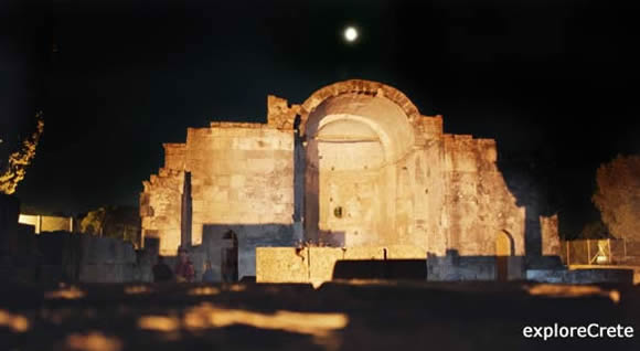gortyn at night