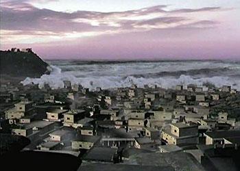 το τσουναμι καταστρεφει τη μινωικη πολη