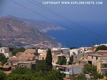 Achlada village in northern Crete