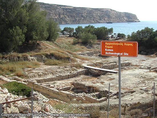 archaeological site kommos crete
