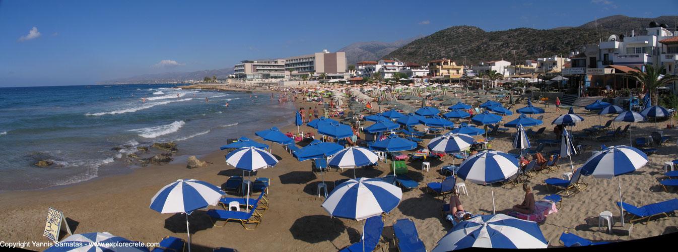 Panoramic View Of Stalis Beach