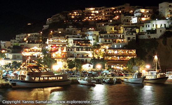 agia galini at night