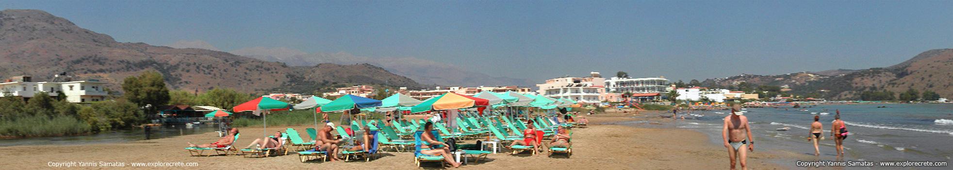 The main beach of Georgioupolis is a