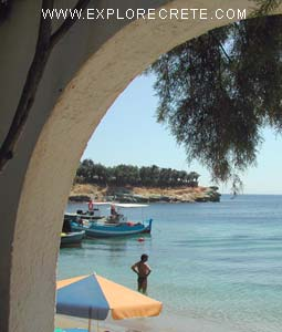 The view from a taverna in Agia Pelagia