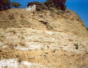 rock layers in Agia Pelagia Crete