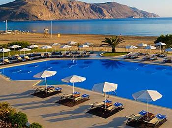 The Pool Of Hotel Next To Georgioupolis Beach
