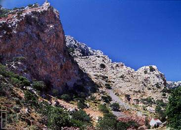 Almyros gorge at Linoperamata, a short distance past Ammoudara, Heraklion