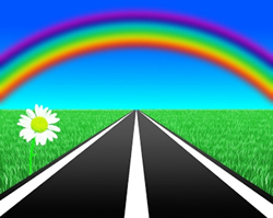 crete car rental, crete car hire, enjoy the rainbow in the roads of crete