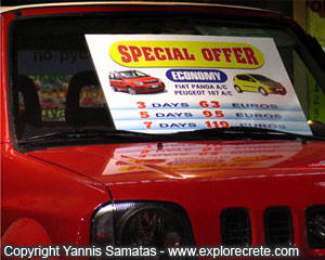 crete car rental discounts