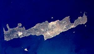 crete satellite image