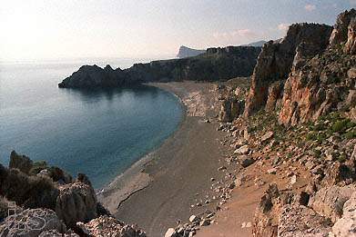 psili ammos, a great secluded beach in southern Crete