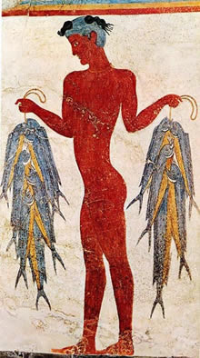 Minoan fresco of fisherman
